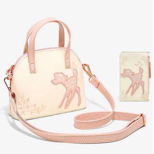 Loungefly Bambi Rose Gold Mini Bag & Cardholder
